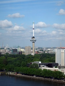 Euromast, the tallest building in Rotterdam
