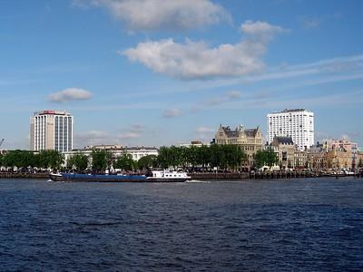 The Nieuwe Mass (New Muese) River in Rotterdam