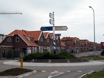 Traffic circle in Rijnland, Netherlands