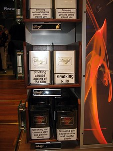 "Warning labels on cigarettes in Amsterdam's Schiphol Aiport include ""Smoking seriously harms you and others around you,"" ""Smoking causes ageing of the skin,"" ""Smoking kills,"" and ""Smoking can cause a slow and painful death"""