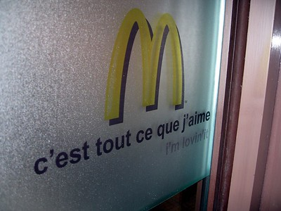 "The McDonald's slogan ""I'm Lovin' It"" translates into French as ""It Is All That I Like"""