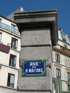 Rue du 8 Mai 1945 (May 8, 1945 Street) in Paris, named after Victory in Europe Day