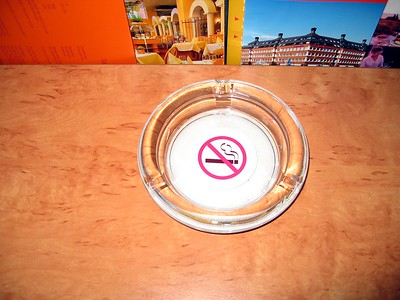For some reason, this no-smoking sign in our hotel in Cologne was shaped like an ashtray