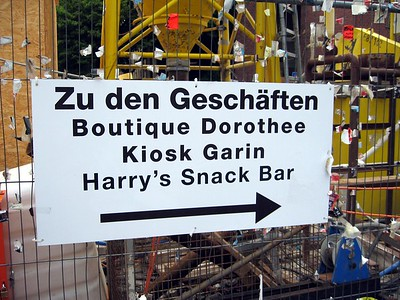 This sign in Cologne points the way to several German landmarks