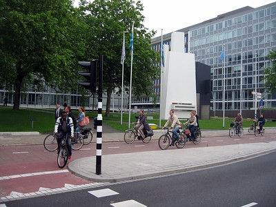 Bicycle lane in The Hague