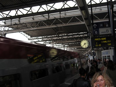 The high-speed Thalys train from Brussels to Paris
