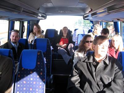 Inside the class minibus