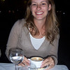 Jessica enjoying a cappuccino.
