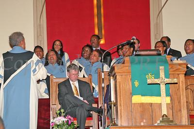 Choir sings a selection