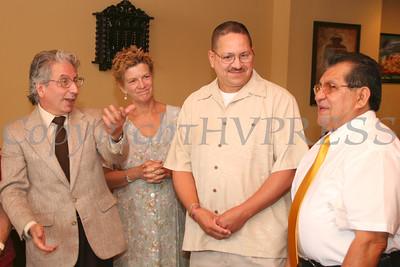 Mayor Nick Valentine, Manager Jean Ann McGrane, Richard Rivera, Carlos Mansilla