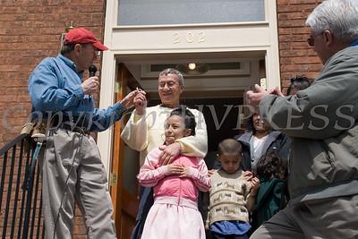 House Captain James Ferguson passes keys to Octavio Corrales