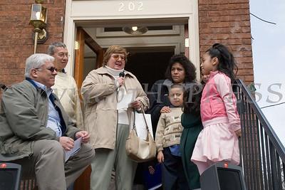 Family advocate Joann Fusco with Corrales family