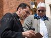 Father Thomas Bobadilla and Moacyr Calhelha at Corrales dedication