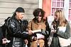 Family Advocates Jodi Schuyler and Danielle Crinieri present Dolores Mejia with a gift
