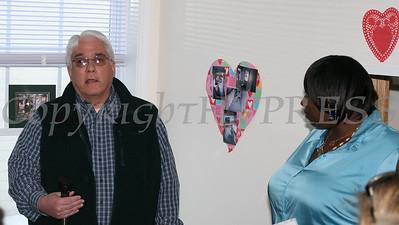 Moacyr Calhelha welcomes everyone to the Williams home dedication