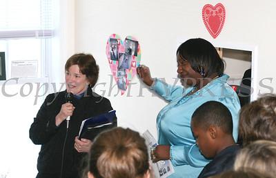Deirdre Glenn recognizes the Kaplan family as Shalanda Williams says thank you