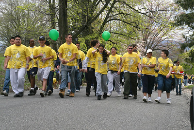 "Walkers hit the pavement during the Habitat for Humanity of Greater Newburgh ""Walk for Housing."""