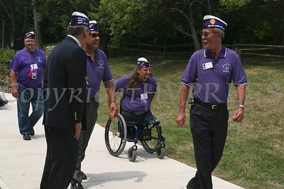 Veterans arrive for ceremony