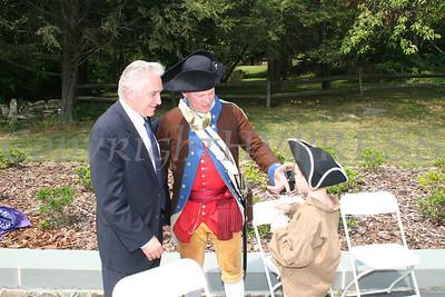 Congressman Hinchey with Colonial day reenactors