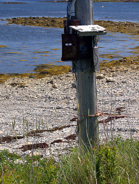 Old Electric Hookup for wharf that used to exist.