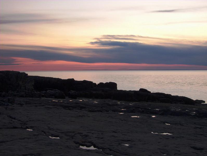 Culloden Sunset<br /> <br /> Basalt Formations at Culloden Wharf<br /> Culloden NS