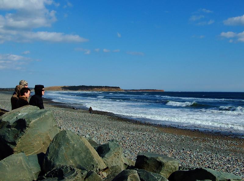 Lawrencetown Beach - Surfers - banjon