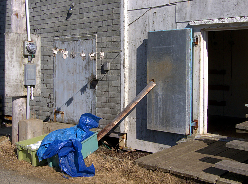 Refrigerator shed.