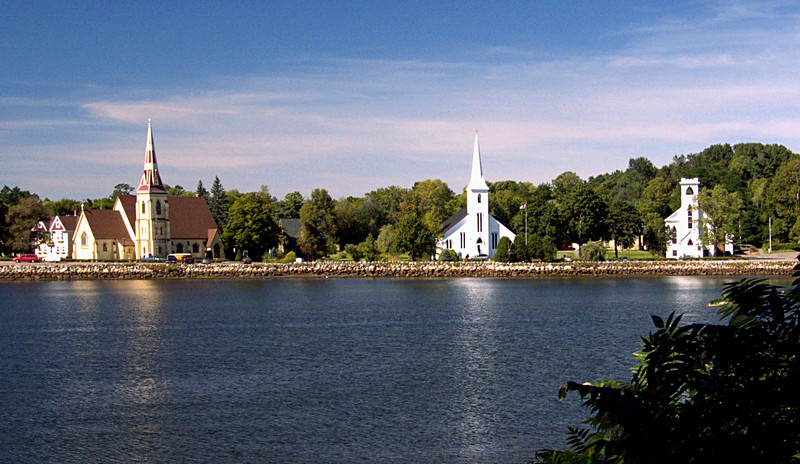 The Three Churches in Mahone Bay