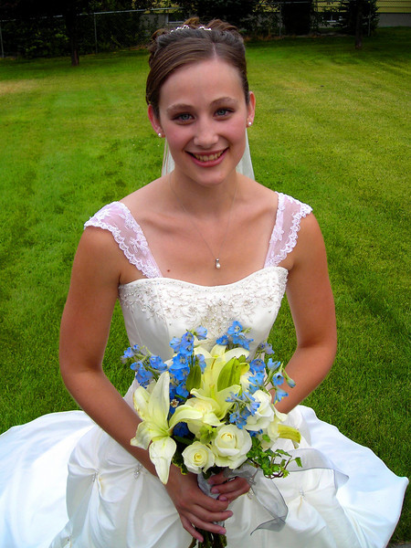 Jessica Shontz on her wedding day in Helena Montana.
