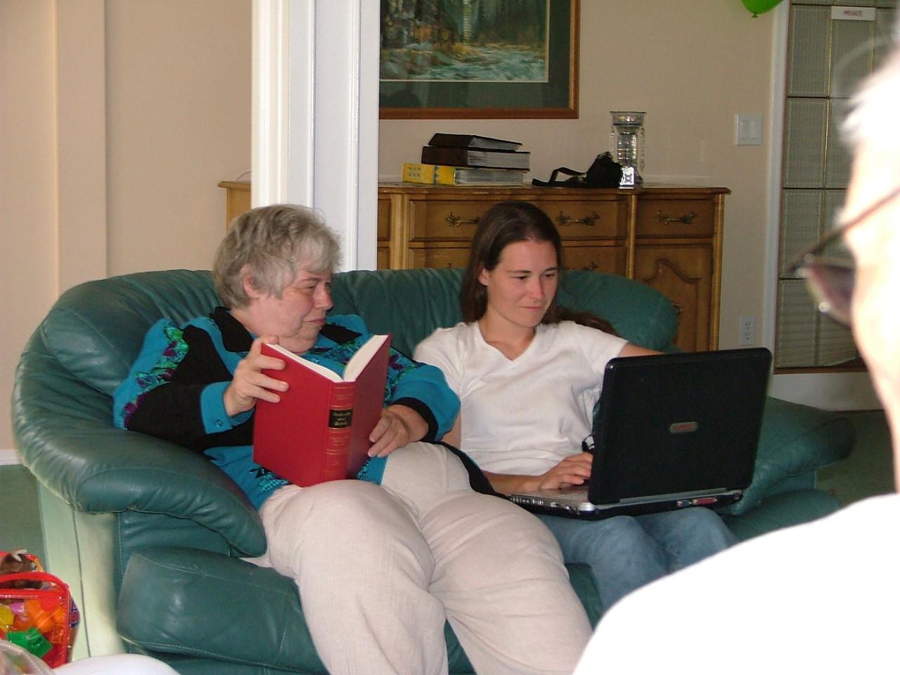 Mom and Kristina