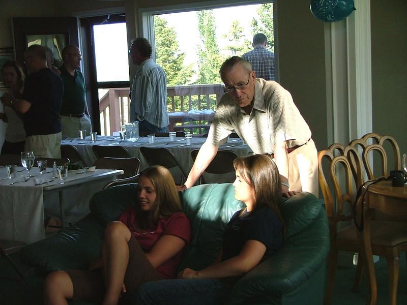 Abby, Grandpa, Annie