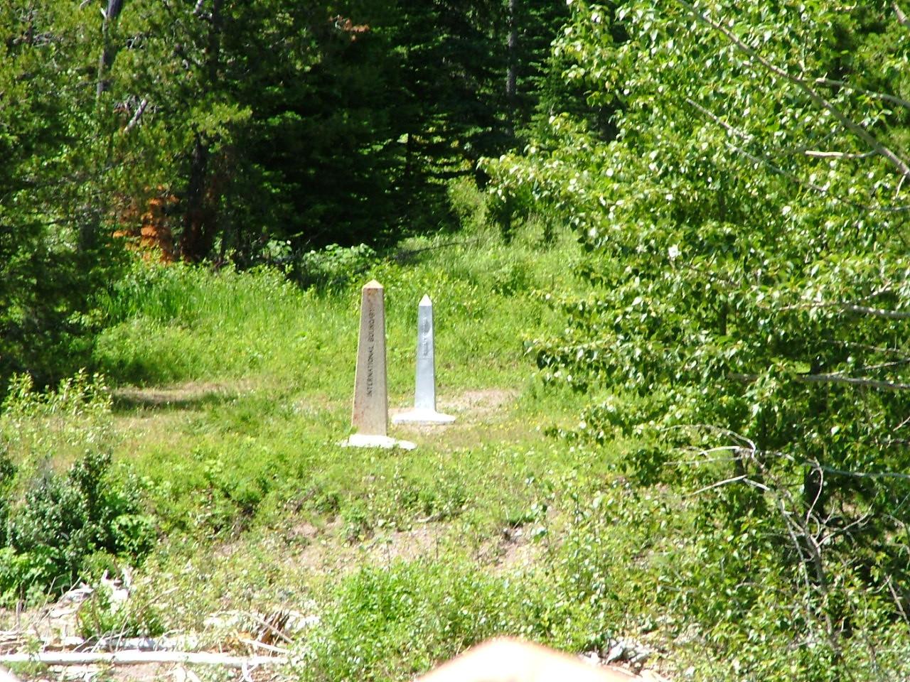 U.S./Canada border markers