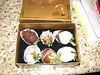Some yummy chocolate covered strawberries from Dustin for Valentine's Day!