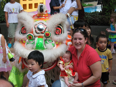 Woody's first lion dance