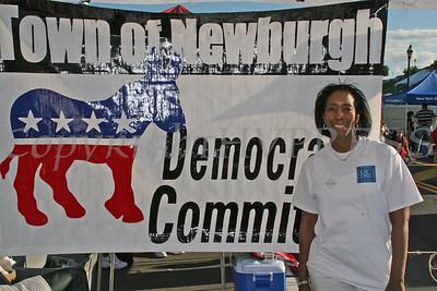 Vanessa Tirado at the Town of Newburgh Democratic Committee booth