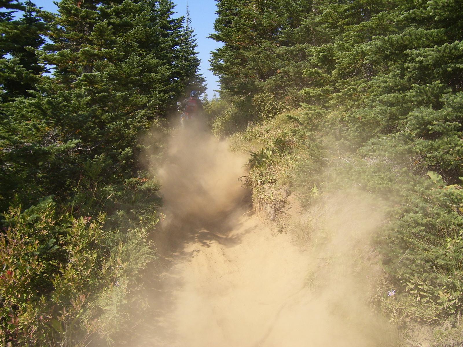 Lots of dust, it was like powder.