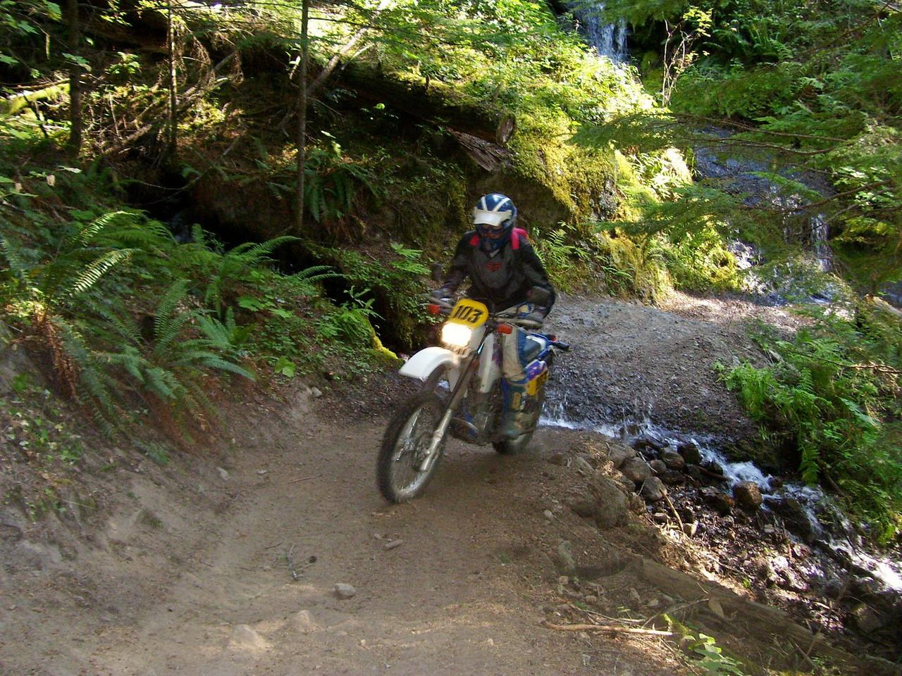 Charlie Bethards on the 270 trail Thursday morning