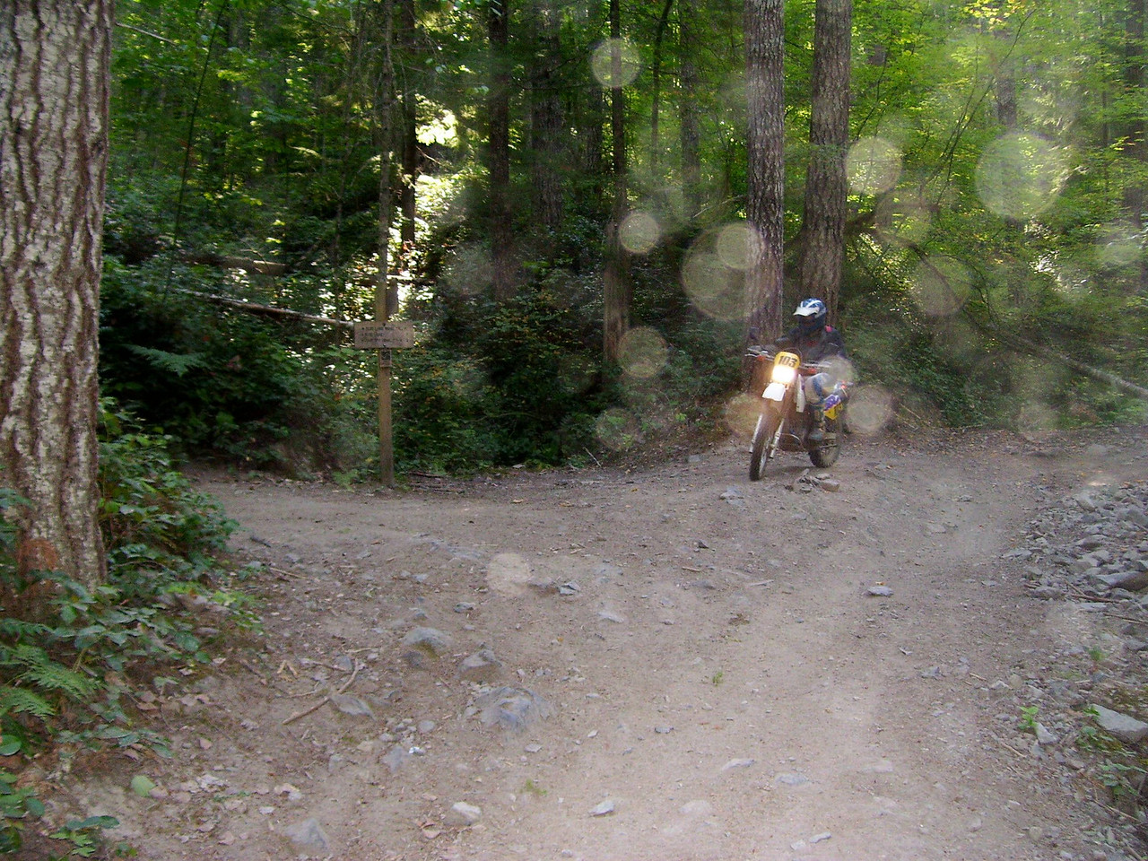 Dust on the camera lens. 270 and the Blue lake trail start
