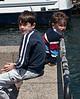 Benjamin and Joey at the dock.