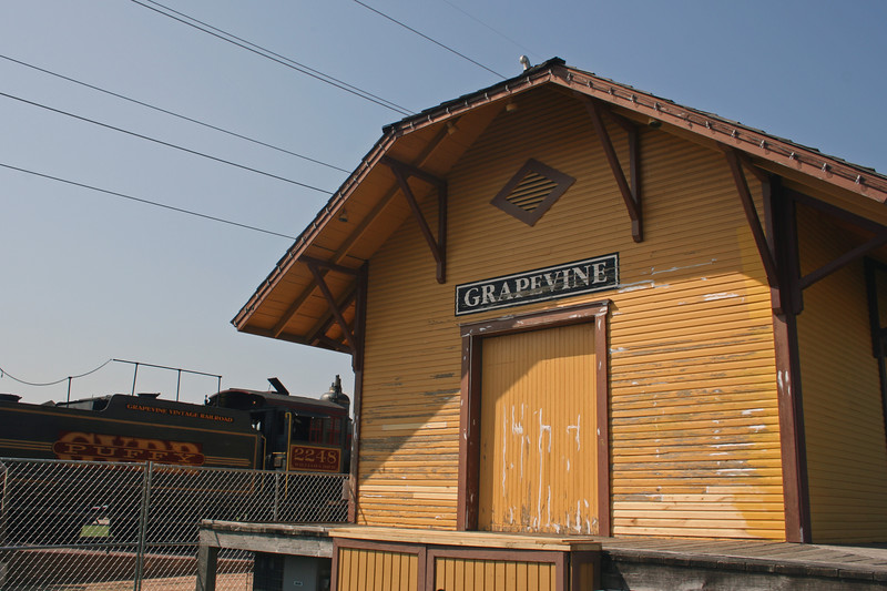 Train depot.
