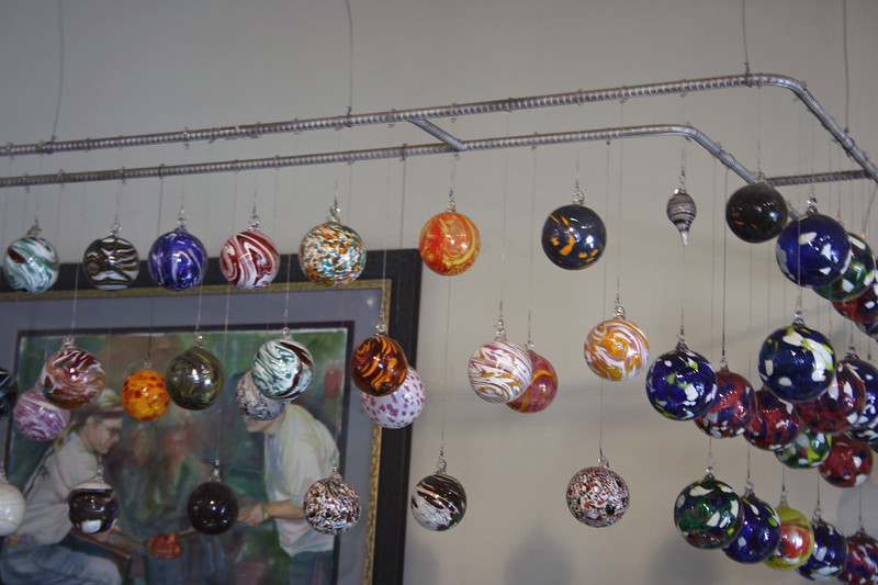 Blown glass shop.
