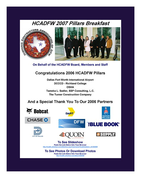 HCADFW Pillars Breakfast '07