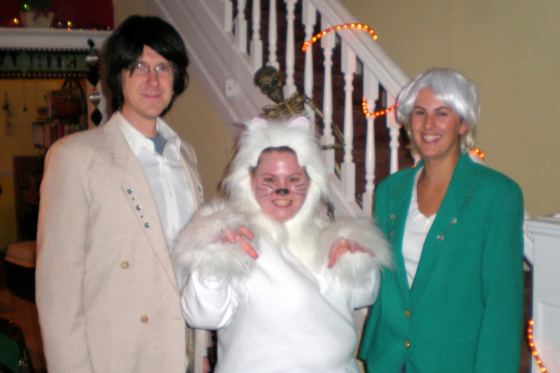 Matt, Jenn & Sibyl as Siegfried & Roy and Montecore the tiger