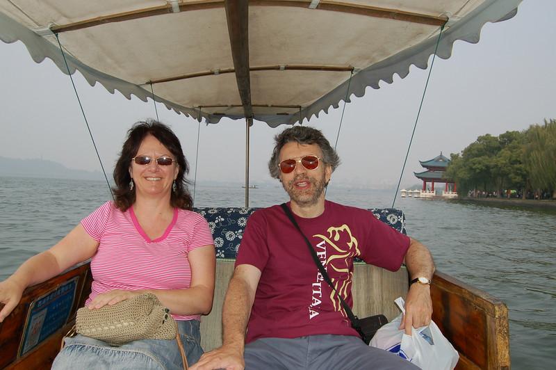 L   R in boat