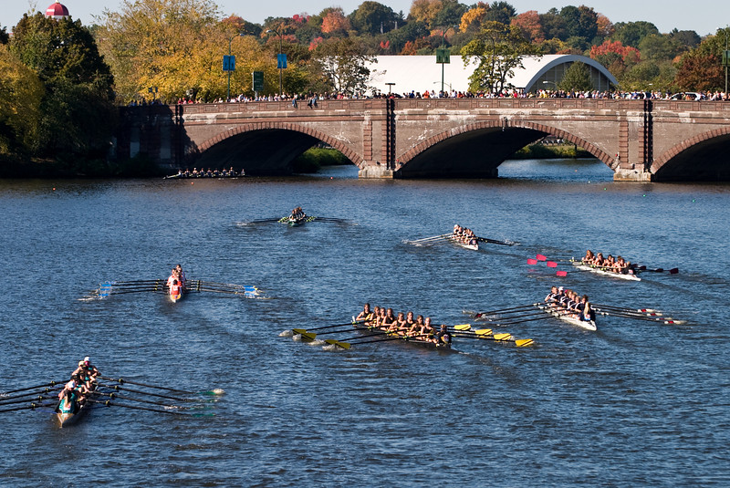 Many eights heading for the Larz Anderson bridge.