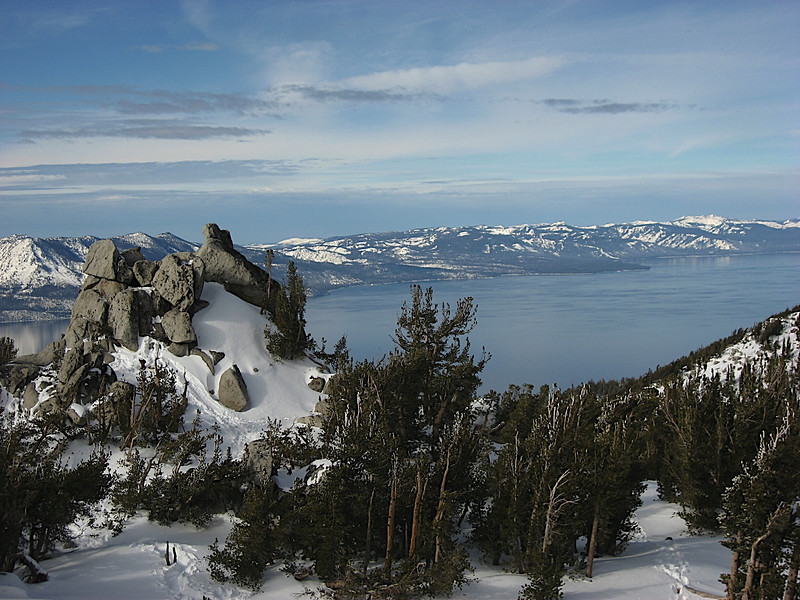 Lake Tahoe on the way to Nevada from California, Heavenly