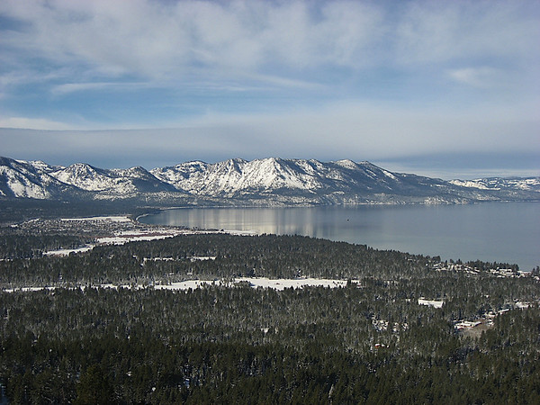 Lake Tahoe from the Gunbarrell Chairlift, California side, Heavenly