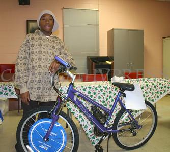 Shawn Grey wins a bike