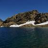 Ingalls Lake is fed by snowmelt, so it's extremely clear and a gorgeous blue color.