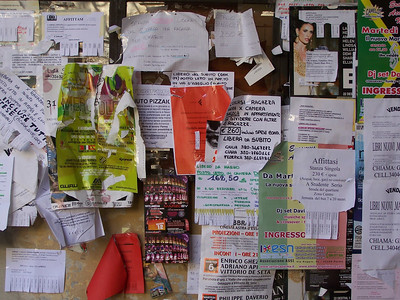 Bulletin board at the University of Parma